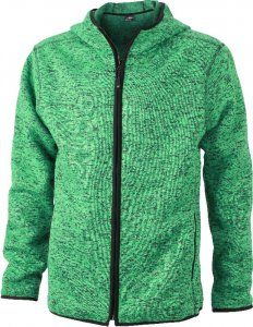 Men's Knitted Hooded Fleece Jacket