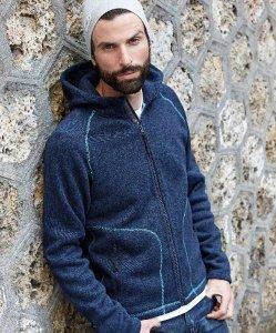 "Men's Hooded Knitted Fleece Jacket ""Aspen"""