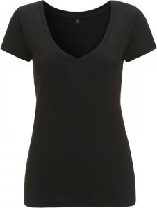 Ladies' Deep V-Neck Jersey T-Shirt